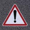 Marquage au sol thermocollé - Danger général