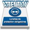 Marquage au sol 3D - ATTENTION Lunettes de protection obligatoires