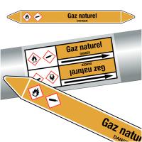 "Marqueurs de tuyauteries CLP ""Gaz naturel"" (Gaz)"