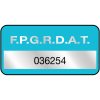 Etiquettes Duraguard en polyester métallisé laminé grande quantité