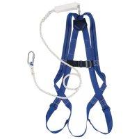 Kit anti-chute standard, harnais, longe et mousqueton