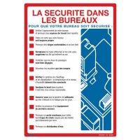 Affiche sur la sécurité dans les bureaux