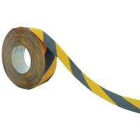 Bande antidérapante adhésive noir et jaune SetonWalk en rouleau - Puissance 2