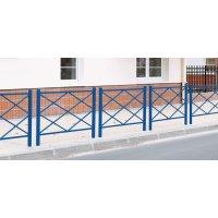Barrières de ville losange en acier vertes, bleues ou bordeaux