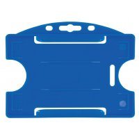 Porte-badge rigide en plastique coloré, pour carte ISO 86 x 54 mm