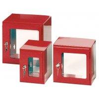 Boîte à clé de secours en métal sous verre dormant grande taille