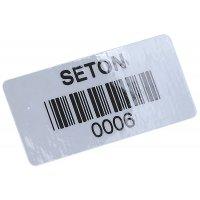 Etiquettes code à barres polypropylène laminé adhésif non permanent