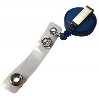Porte-badge enrouleur zip en plastique translucide