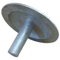 Clous de délimitation en aluminium à fixer au sol avec un adhésif