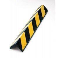 Cornière de protection d'angle en caoutchouc noir et jaune