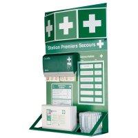 Station de premiers secours avec pansements