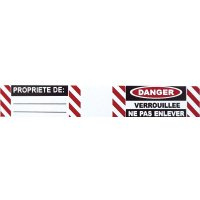 Etiquettes auto-laminantes pour cadenas
