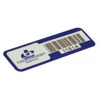 Etiquettes d'identification avec code à barres en aluminium anodisé