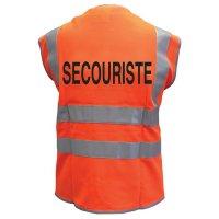 Gilets de sécurité fluo avec textes standard au dos