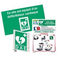 Pack de signalisation pour défibrillateur avec signalétique et poster