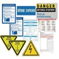 Kit complet pour signalisation de poste avec 11 panneaux