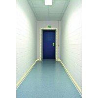 Signalisation de sortie de secours photoluminescente pour portes et couloirs en aluminium