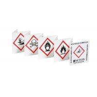 Dépliant de poche pédagogique sur les 9 symboles de produits dangereux
