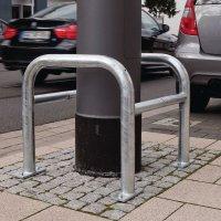 Arceaux de protection pour colonnes en acier galvanisé