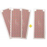 Lot 4 planches avec autocollants prédécoupés - GHS02