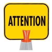 Panneau pour cône de chantier - Attention