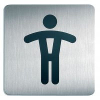 """Panneau d'information design carré """"Toilettes homme"""""""