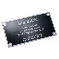 Plaques de firme en aluminium rigide excellente résistance