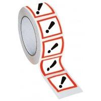 """Ruban d'emballage en polypropylène """"Danger pour sensibilisation cutanée, inhalation, corrosion ou irritation des yeux"""""""