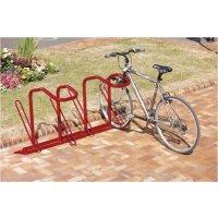 Range vélos sur pieds qui maintient le vélo droit