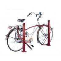 Range vélos sur pieds type face à face avec 1 ou 2 poteaux