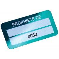 Etiquettes de propriété Duraguard pré-numérotées à compléter