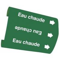 "Marqueurs de tuyauteries Snap-On ""Eau chaude"" (Eau)"