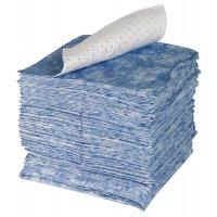 Feuilles absorbantes pour hydrocarbures avec voile de renfort