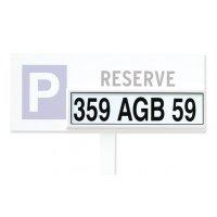Panneau parking Réservé personnalisable - PVC