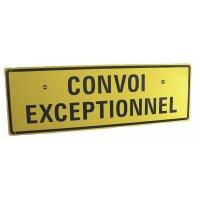 Panneau réglementaire Convoi exceptionnel avec texte sur 2 lignes