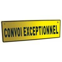 Panneau réglementaire Convoi exceptionnel avec texte sur 1 ligne