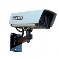 Caméra vidéosurveillance factice vitre anti-impact