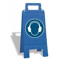 Chevalet de signalisation - Serre-tête antibruit obligatoire - M003