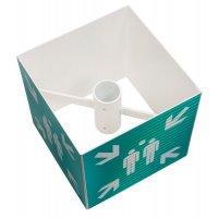 """Kit panneau """"point de rassemblement"""" 360° ou 180° ISO 7010 - E007"""