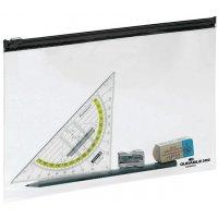 Pochettes navette transparentes avec fermeture zip
