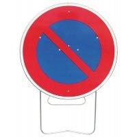 Panneau de signalisation temporaire B6a1 - Stationnement interdit