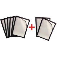 Lot de 8 porte-documents à fermeture magnétique (6+2 gratuits)
