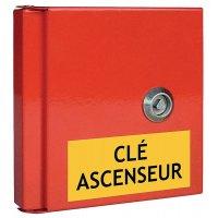 Boîte à clé de secours avec étiquettes pour locaux techniques