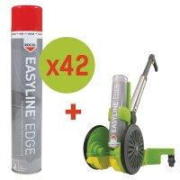 Prix Spécial - Kit de marquage 42 bombes aérosols de peinture époxy Easyline® + 1 traceur Easyline®