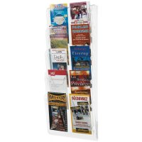 Porte-brochures mural colonne