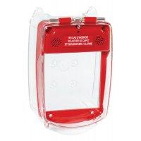 Capot de protection pour alarme incendie