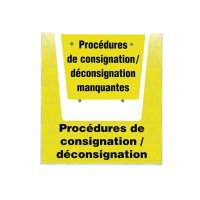 Porte-documents mural  - Procédures consignation / déconsignation