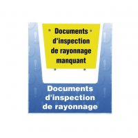 Porte-documents mural - Documents d'inspection de rayonnage