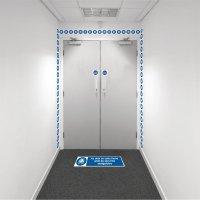 Kit barrière visuelle avec ruban adhésif mural et marquage au sol - Gilet de sécurité obligatoire - M015