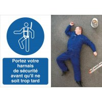 Poster de sécurité - Portez votre harnais de sécurisé - M018